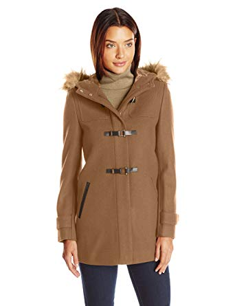 Cole Haan Women's Signature Hooded Duffle Camel at Amazon Women's