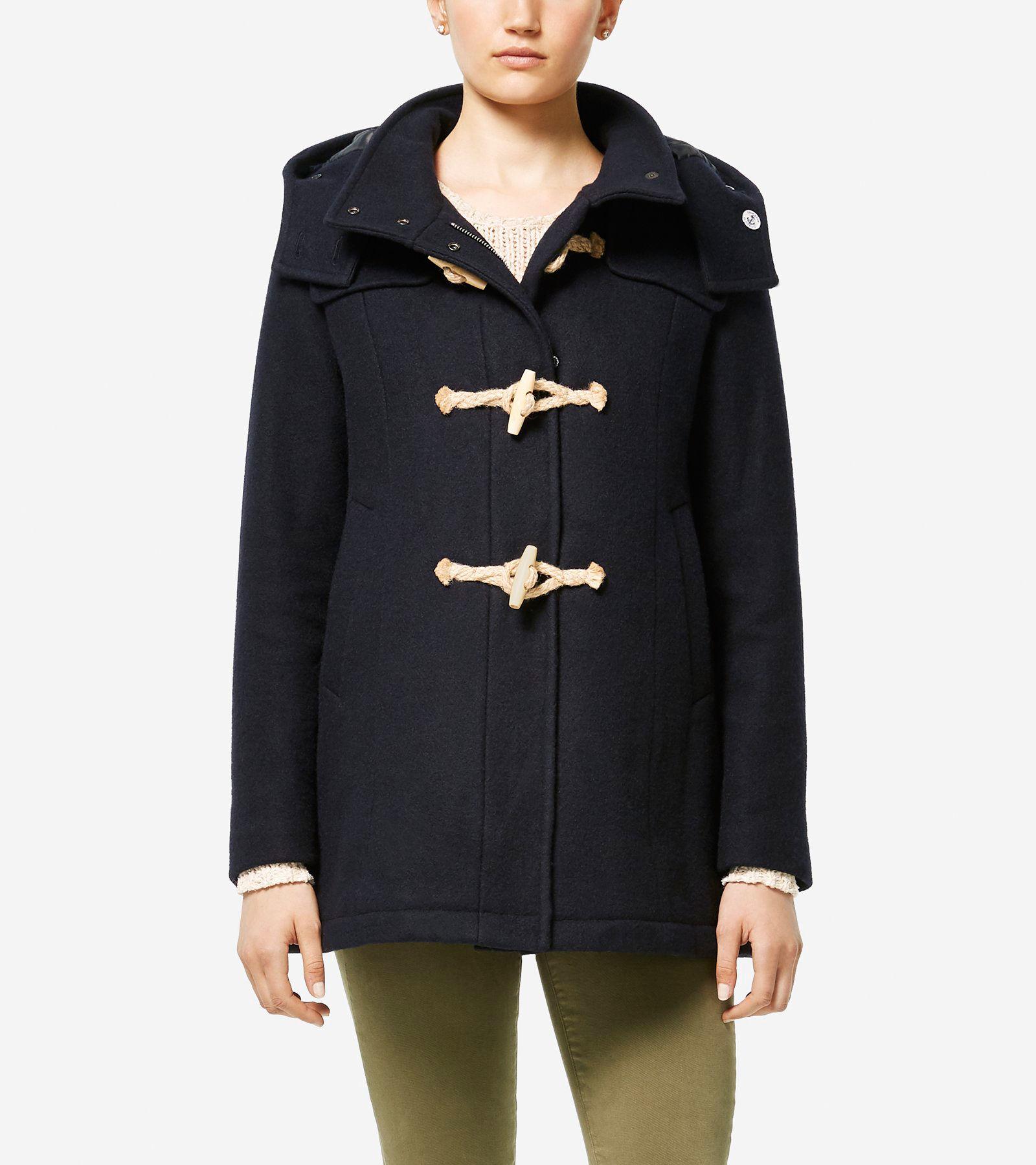 Women's Cole Haan + Fidelity Made In America Duffle Coat in Navy