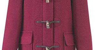 Amazon.com: Original Montgomery Womens Duffle Coat - Burgundy Size 6