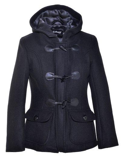 Women's Cropped Wool Duffle Coat DU732W