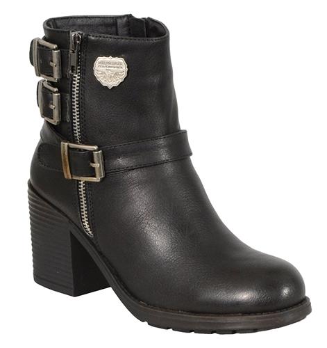 Ladies Motorcycle Boots w/ Platform Heel Milwaukee Leather
