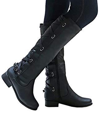 Amazon.com: Meilidress Women Boots Winter Tall Riding Leather