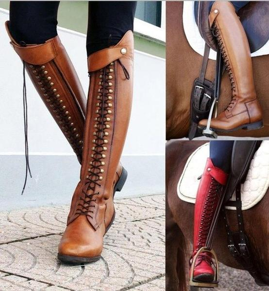Women's Shoes - Over Knee High New Fashion Leather Riding Boots