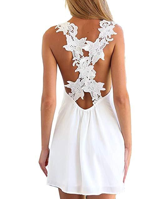 Tomteamell Womens Summer Casual Beach Dress Lightweight Sundresses