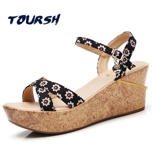 TOURSH Platform Wedges Sandals For Womens Wedges Sandal Platforms