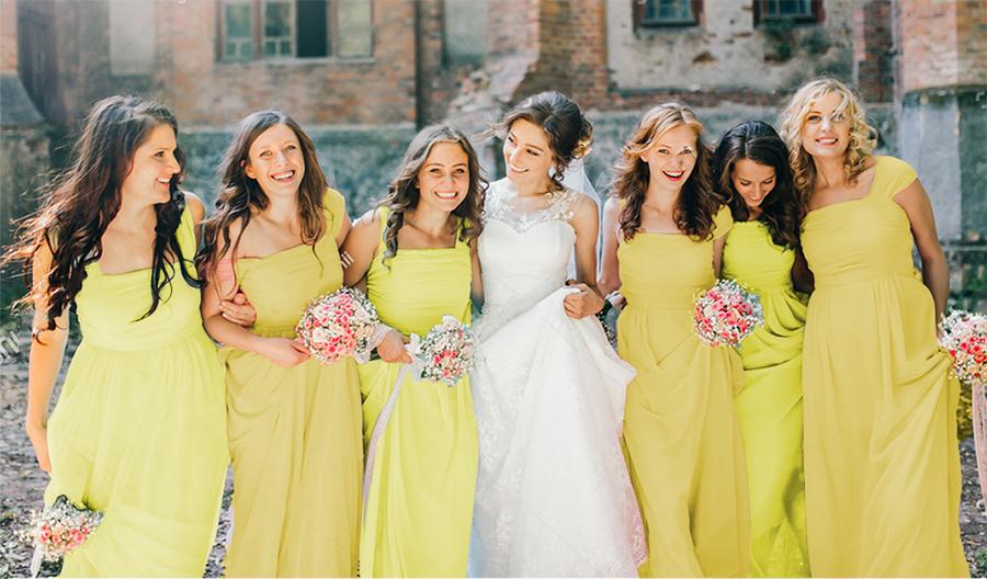How to Organize Yellow Wedding | 4 Styles of Yellow Bridesmaid Dresses