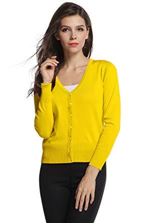 Sofishie Classic V-Neck Short Cardigan at Amazon Women's Clothing store: