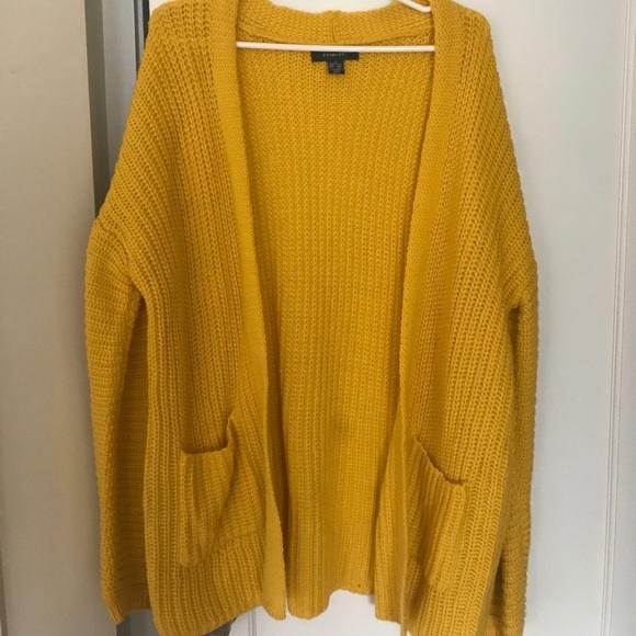 Primark Sweaters | Oversized Yellow Cardigan | Poshmark