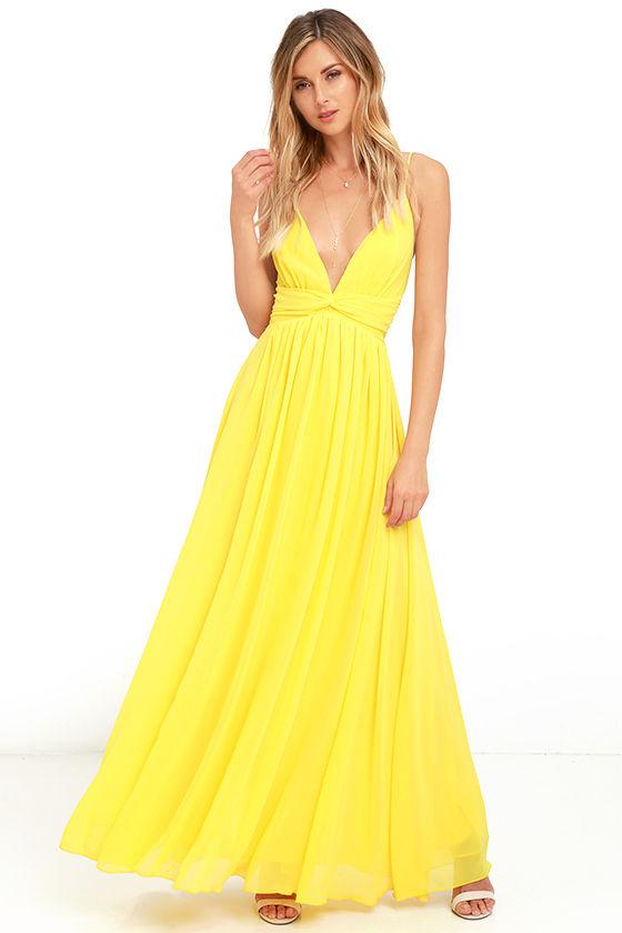 Lovely Yellow Dress - Maxi Dress - Bridesmaid Dress - Formal Dress