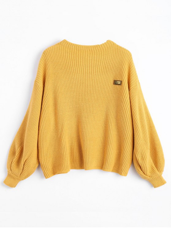 49% OFF] 2019 ZAFUL Oversized Chevron Patches Pullover Sweater In