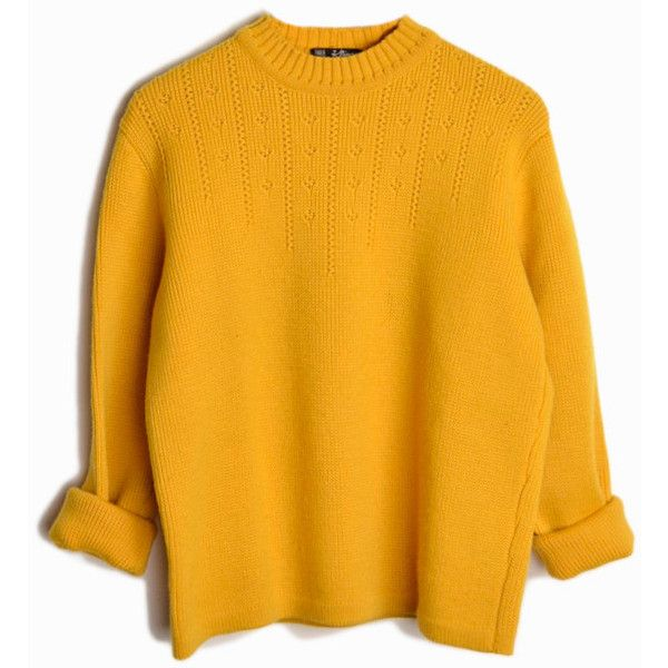 Vintage 60s Austrian Wool Ski Sweater in Mustard Yellow women's