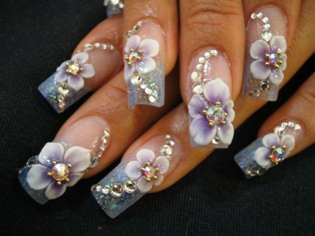 Beautiful-3d-Nail-Art-Flowers-12.jpg (630×472)   3d nail art .