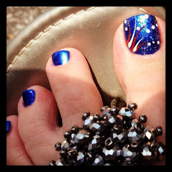 Fourth of July Toe Nail Designs for Summer   Toe nail designs .