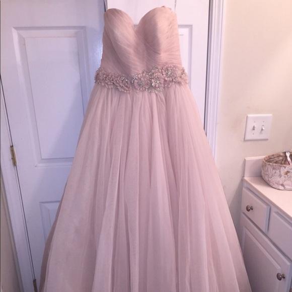 Allure Bridals Dresses   Blush Strapless Wedding Gown By Allure .