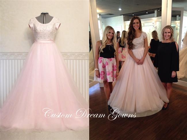 Romance Modest M524 Jessa Duggar Wedding Dress   Custom Dream .