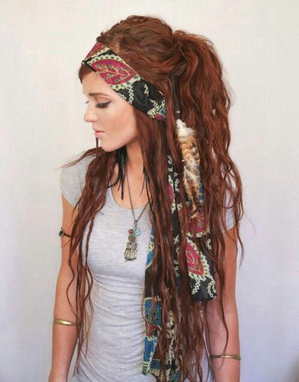 Brown hairs hippie hairstyles dreads tumblr   Hippie hair .