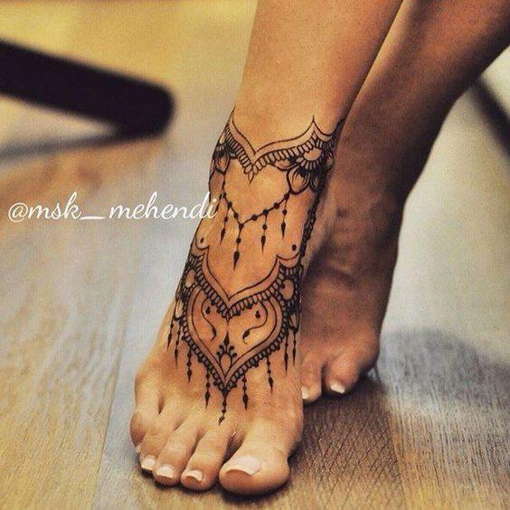 70+ Infinity Charm Ankle Bracelet Tattoos Design Anklet Tattoos .