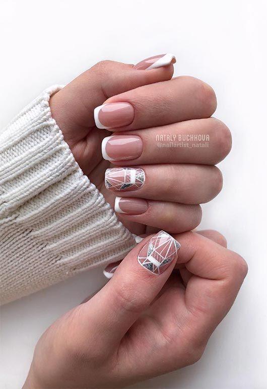 65 Awe-Inspiring Nail Art Designs for Short Nails | French nail .