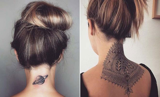 23 Edgy Back of Neck Tattoos for Women   StayGl