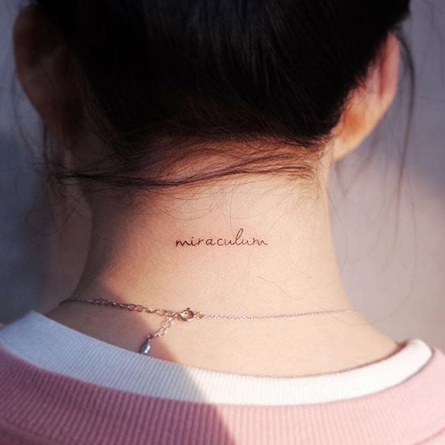 Summer Trend: Back-of-the-Neck Tattoos   The Sexy Tattoo Trends .