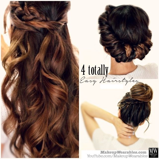 3 Totally Easy Back-to-School Hairstyles | Hair tutorials easy .