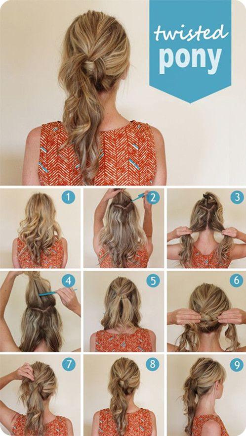 3 Easy Ways Back to School Hairstyles - | Twist ponytail, Ponytail .