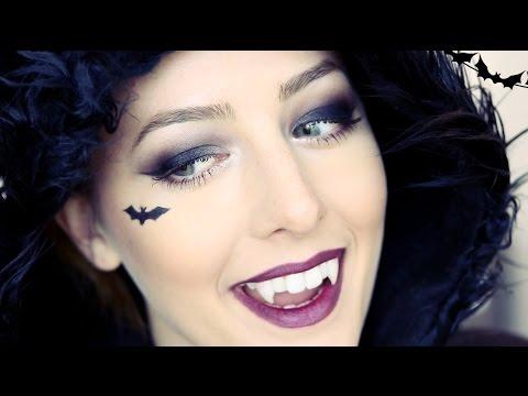 Cute Vampire Bat Halloween Makeup Tutorial! [Mostly Drugstore .
