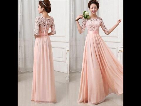 Beautiful Long Gown dress designs for girls , New - YouTu