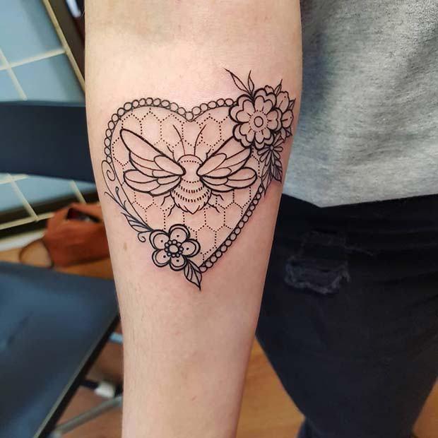 21 Cute Bumble Bee Tattoo Ideas for Girls | Bumble bee tattoo, Bee .