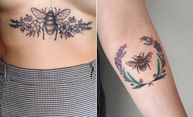 41 Cute Bumble Bee Tattoo Ideas for Girls | StayGl