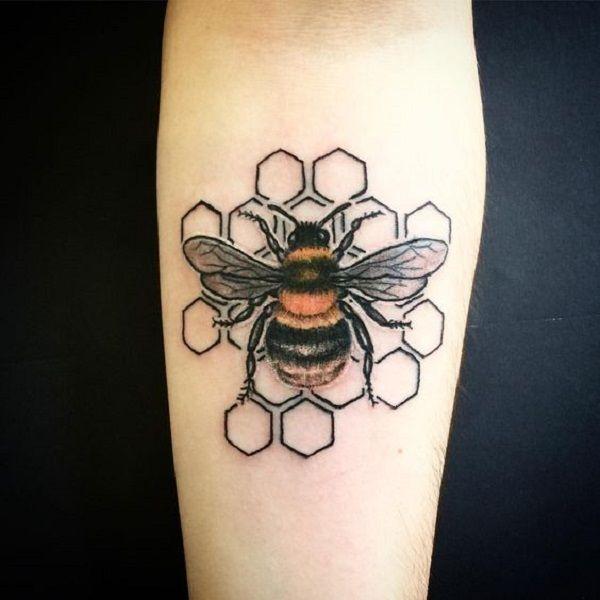 75 Cute Bee Tattoo Ideas | Cuded | Bee tattoo, Tattoos, Bumble bee .