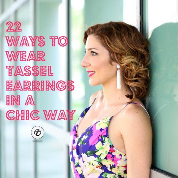 Tassel Earring Styles-31 Ideas On How to Wear Tassel Earri