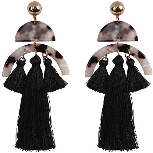 Amazon.com: Lazeny Bohemia Tassel Earrings Elegant National Style .