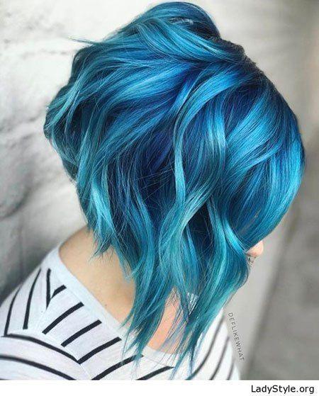 12 of the Best Short Blue Hairstyles #bluehair; #shorthair .