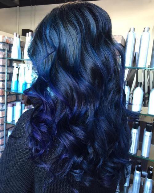 20 Dark Blue Hairstyles That Will Brighten Up Your Look | Blue .