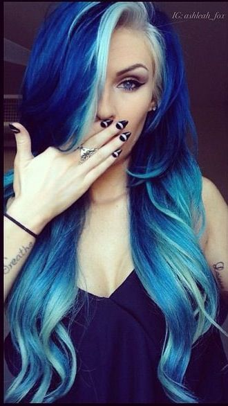 17 Great Blue Hairstyles - Pretty Designs | Hair styles, Hair .