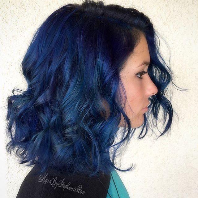 20 Dark Blue Hairstyles That Will Brighten Up Your Look | Navy .