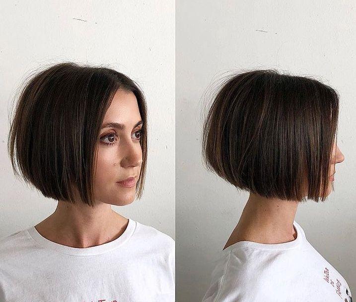 Soft blunt bob | Short hair styles, Short straight hair, Hair styl