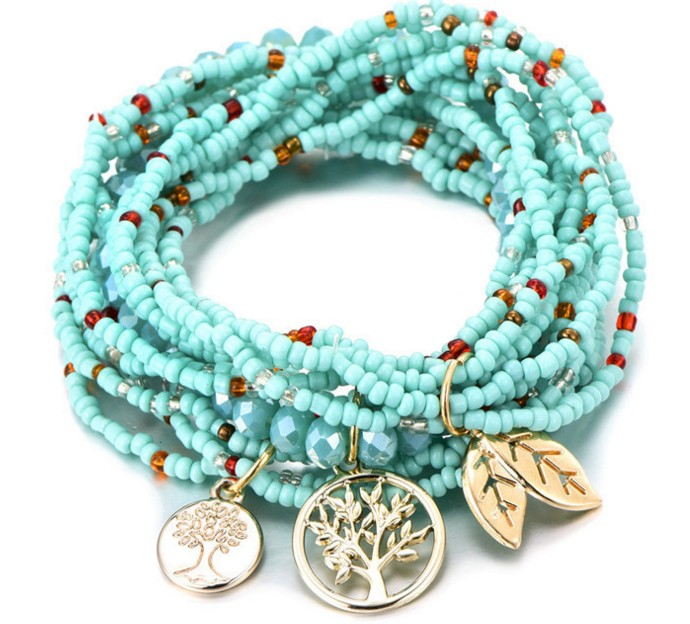 Turquoise Boho Beaded Bracelet Stack — Stacked New Yo