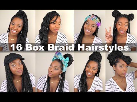 16 Box Braid Hairstyles   Quick & Easy   Natural Hair - YouTu