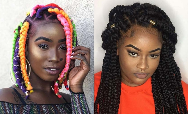 43 Big Box Braids Hairstyles for Black Hair   StayGl