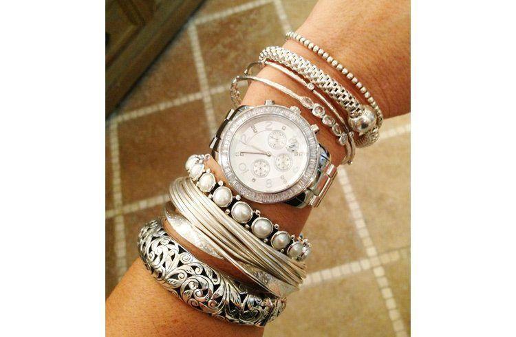 How to Wear Silver Bangle Bracelets | Silver bangle bracelets .