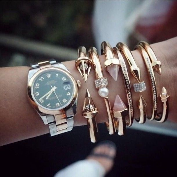 Wheretoget | Rolex women, Wrist accessories, Ball bracel