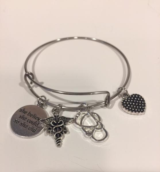 Bangle Bracelets with Char