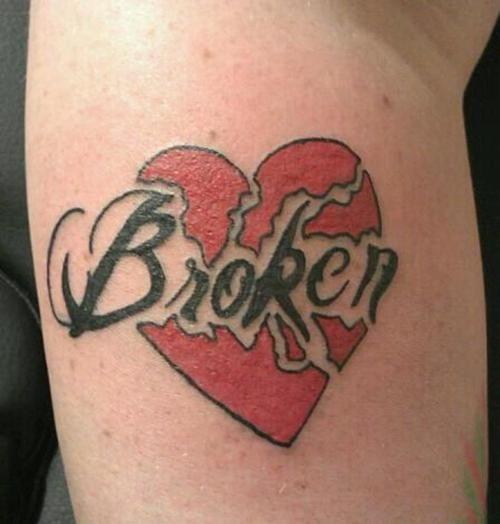 broken heart tattoo, love it   Broken heart tattoo, Broken tattoo .
