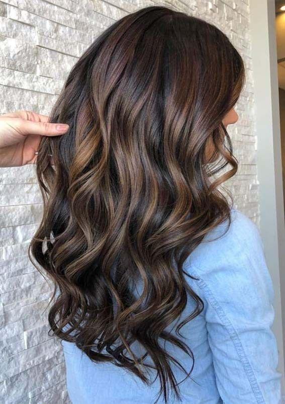 Brunette balayage in 2020   Balayage hair, Balayage brunette .