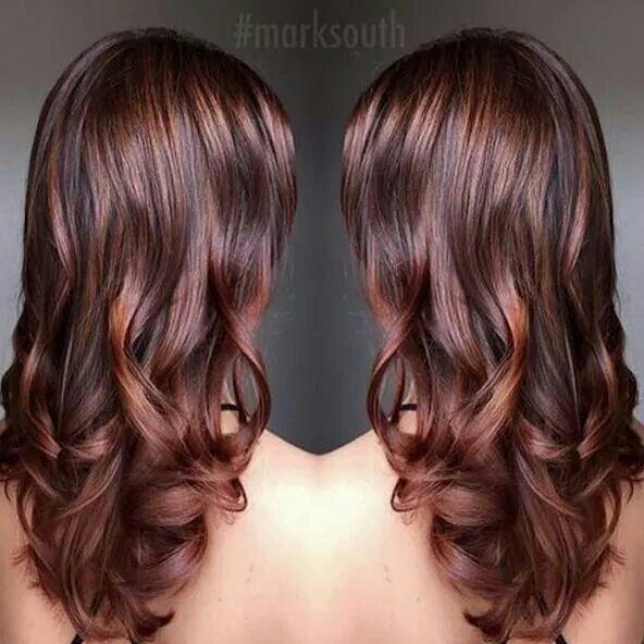 Beautiful cinnamon brown hair color | Cinnamon brown hair color .