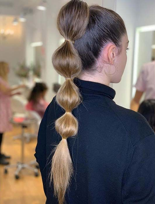 23 Trendy Bubble Ponytail Hairstyles to Try in 2020   StayGlam in .