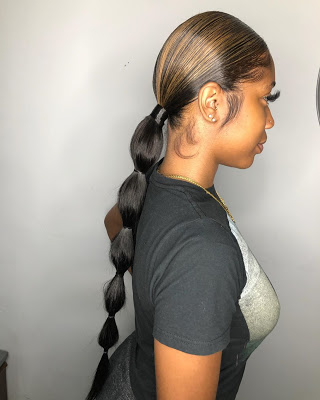 31 Bubble Ponytail Hairstyles With Weave To Wear This Year #Bubble .