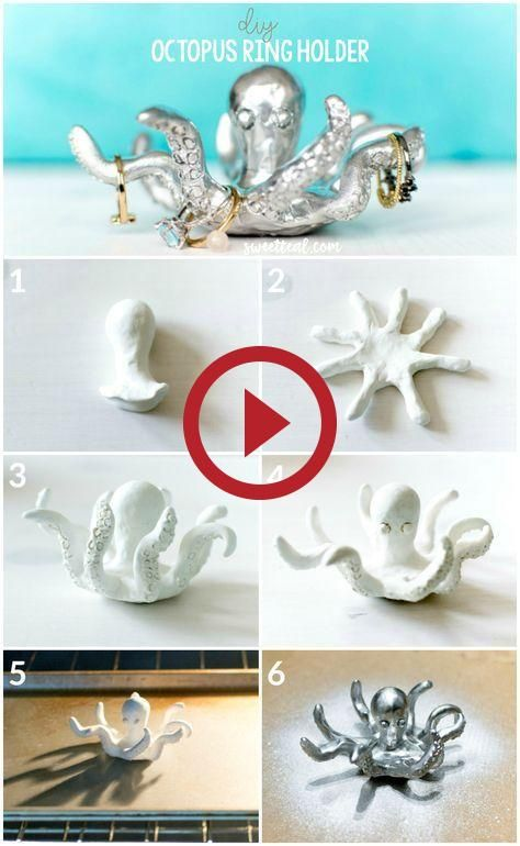 DIY Octopus Ring Holder by Jenny Bess of Sweet Teal (With images .